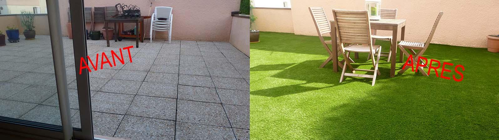 Exemple de réalisation - terrasse