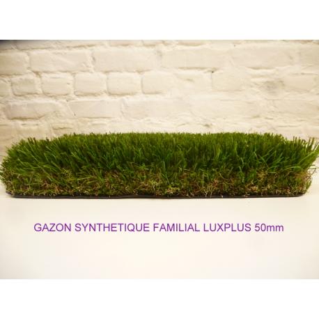 gazon synthétique familial luxplus 50mm