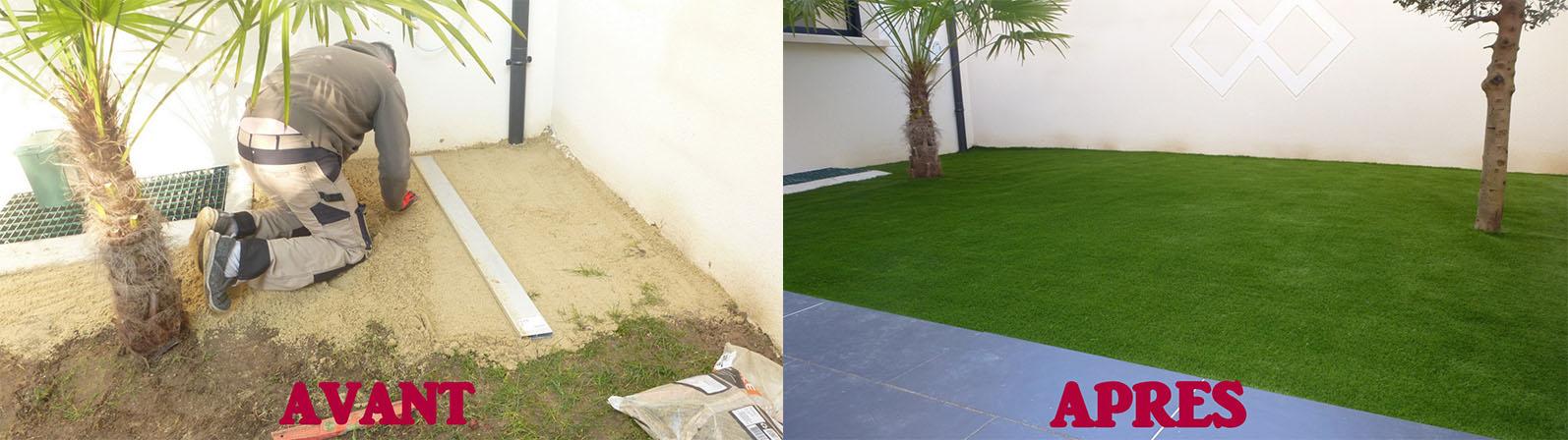 Exemple de réalisation - jardin intérieur
